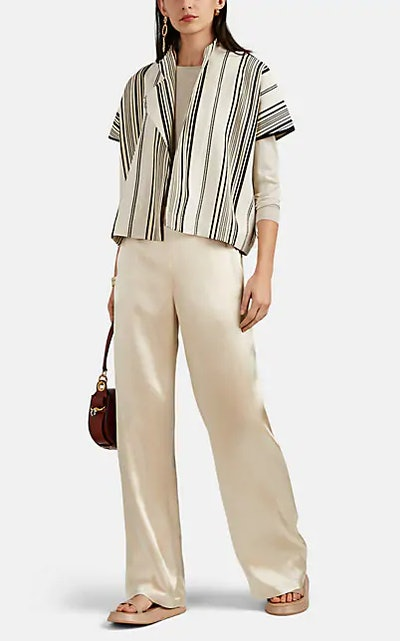Edi Striped Shrug Jacket