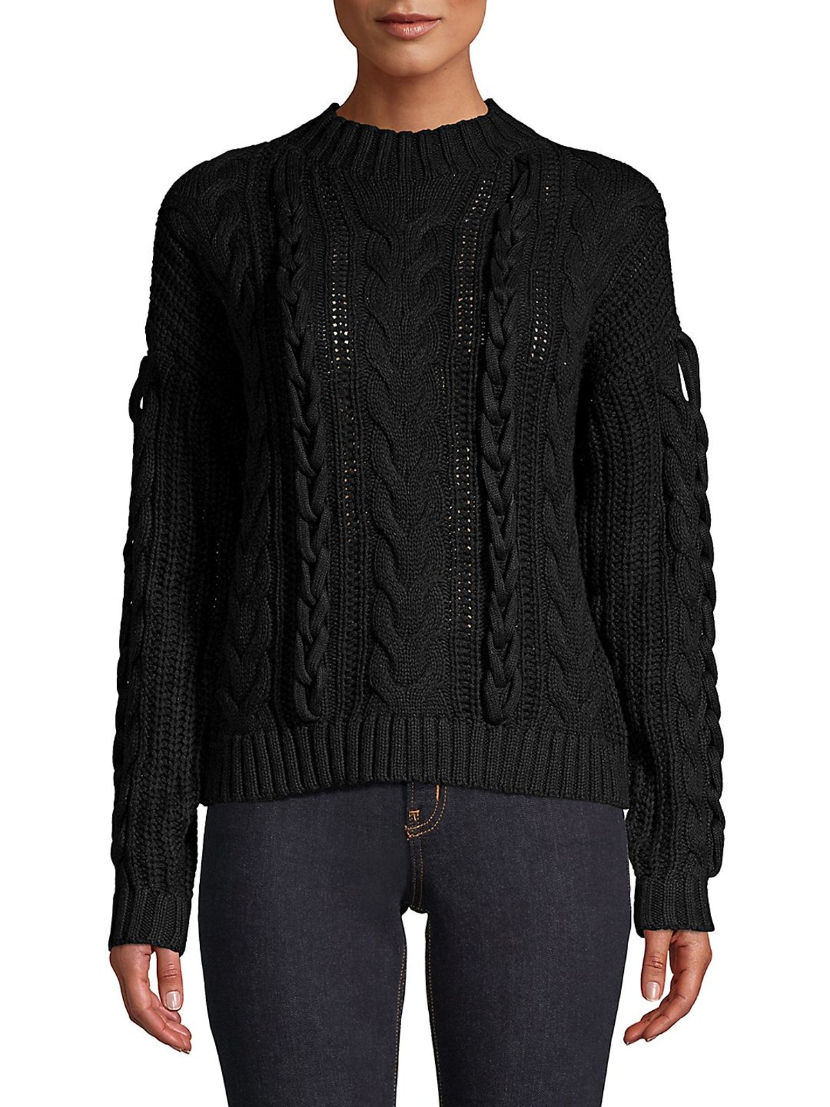Vero Moda  Cable-Knit Mockneck Sweater
