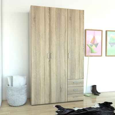 Tvilum Space 3 Drawer and 3 Door Armoire