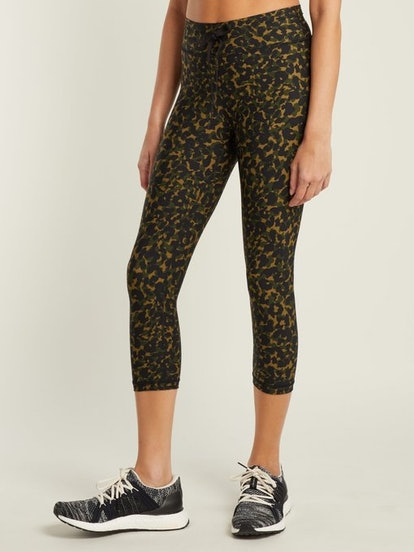 The Upside NYC Leopard Camo-Print Leggings