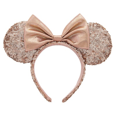 Minnie Mouse Rose Gold Sequined Ear Headband