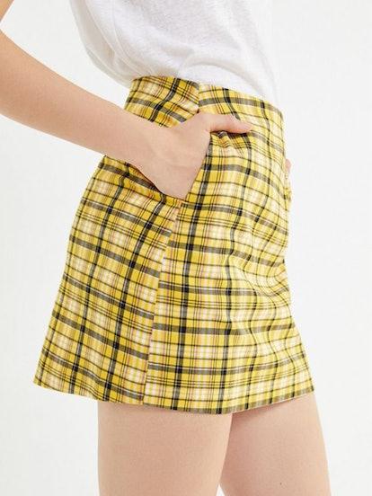 Colin Plaid Pocket Mini Skirt