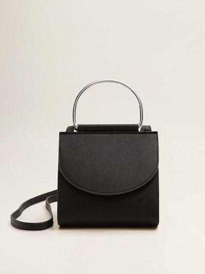 Metallic Handle Mini Bag