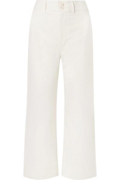 Merida Cropped Wide-Leg Pants