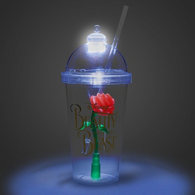 Enchanted Rose Light-Up Dome Tumbler With Straw