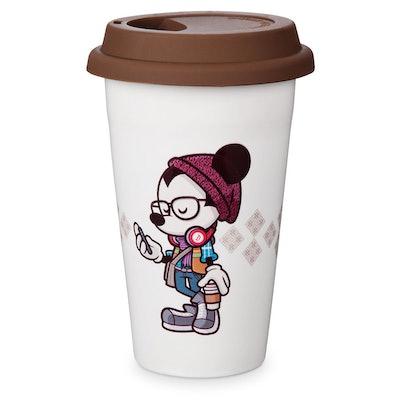 "Mickey Mouse ""Hipster Mickey"" Travel Mug by Jerrod Maruyama"