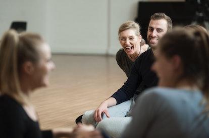 Intimacy Coordinator Ita O'Brien in a workshop
