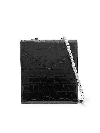 Allegra Croc-Effect Leather Shoulder Bag