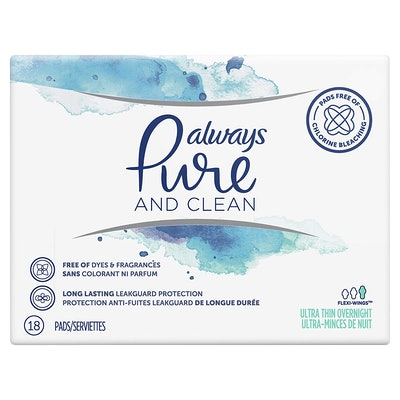Always Pure And Clean Pads, 18 Count (3-Pack)