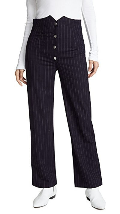 Julia Pinstripe Trousers