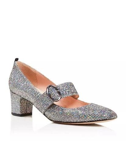 Tartt Metallic Mary Jane Mid Heel Pumps