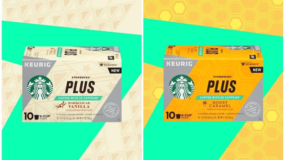fccdb324c80 Starbucks PLUS K-Cups In Madagascar Vanilla & Honey Caramel Have Twice The  Caffeine Of Starbucks' Other K-Cups
