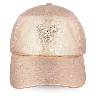 Mickey Mouse Rose Gold Baseball Cap