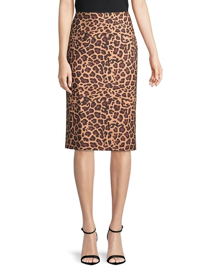 Lord & Taylor  Plus Printed Pencil Skirt