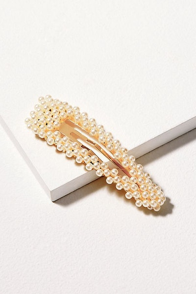 Set of Two Faux Pearl-Embellished Hair Clips