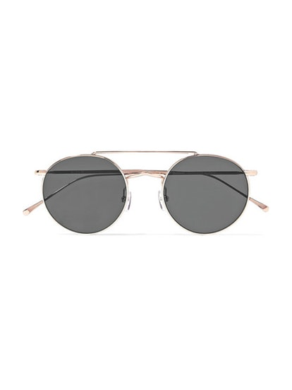 Allen M Round-Frame Rose Gold-Tone Sunglasses