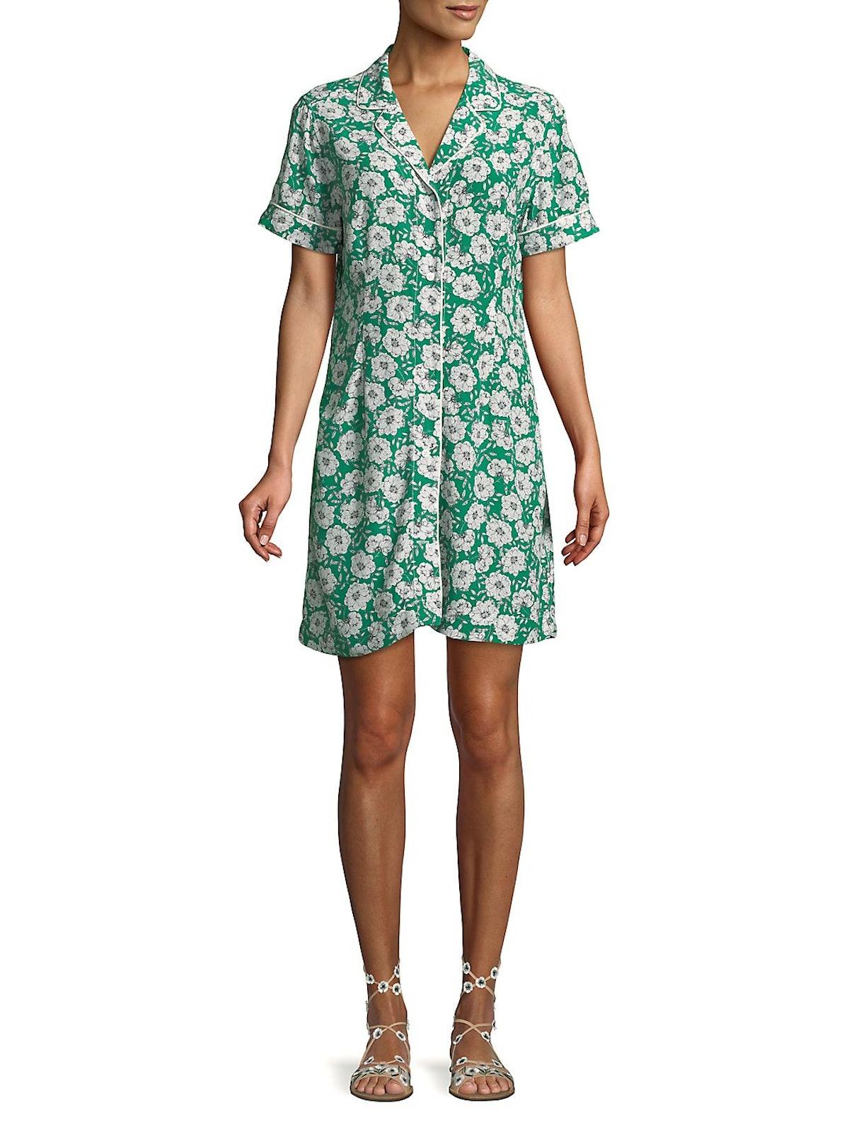 Calvin Klein Jeans  Floral-Print Mini Shirtdress