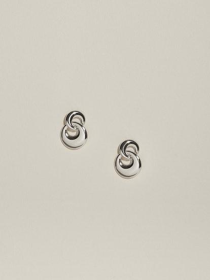 Duet Earrings, Silver