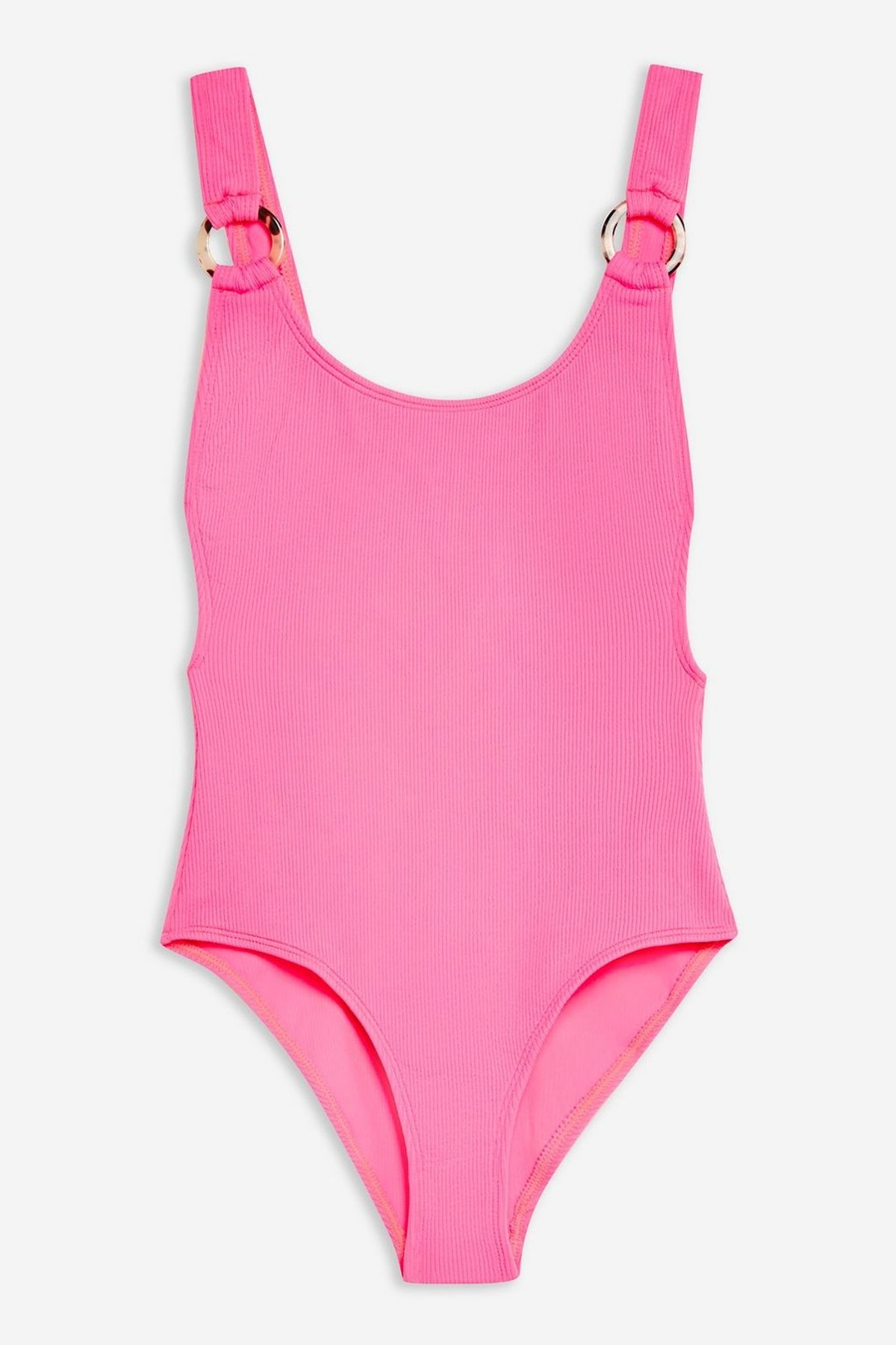 Scoop Neck Ring Strap Swimsuit