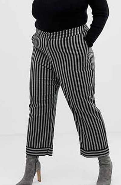 Lost Ink Tailored Pants In Stripe