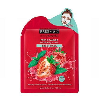 Feeling Beautiful Pore Cleansing Strawberry + Mint Sheet Mask