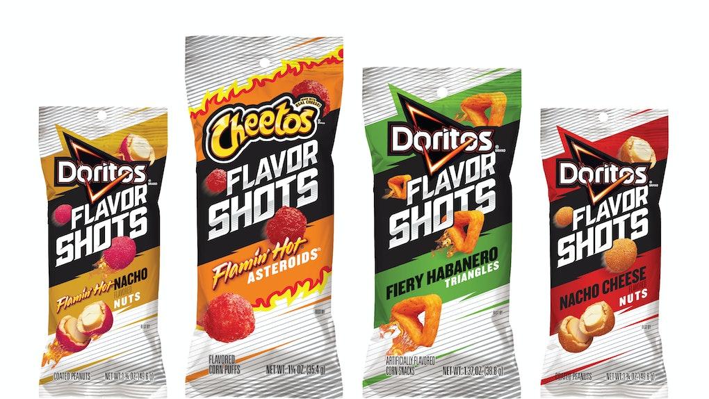 Frito-Lay's New Cheetos & Doritos Flavor Shots Feature
