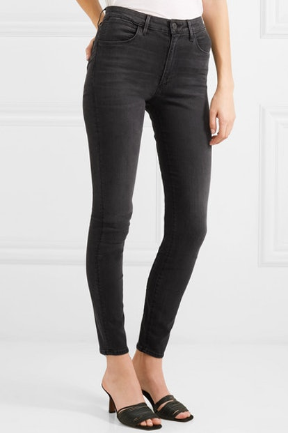 W3 Channel High-Rise Skinny Jeans