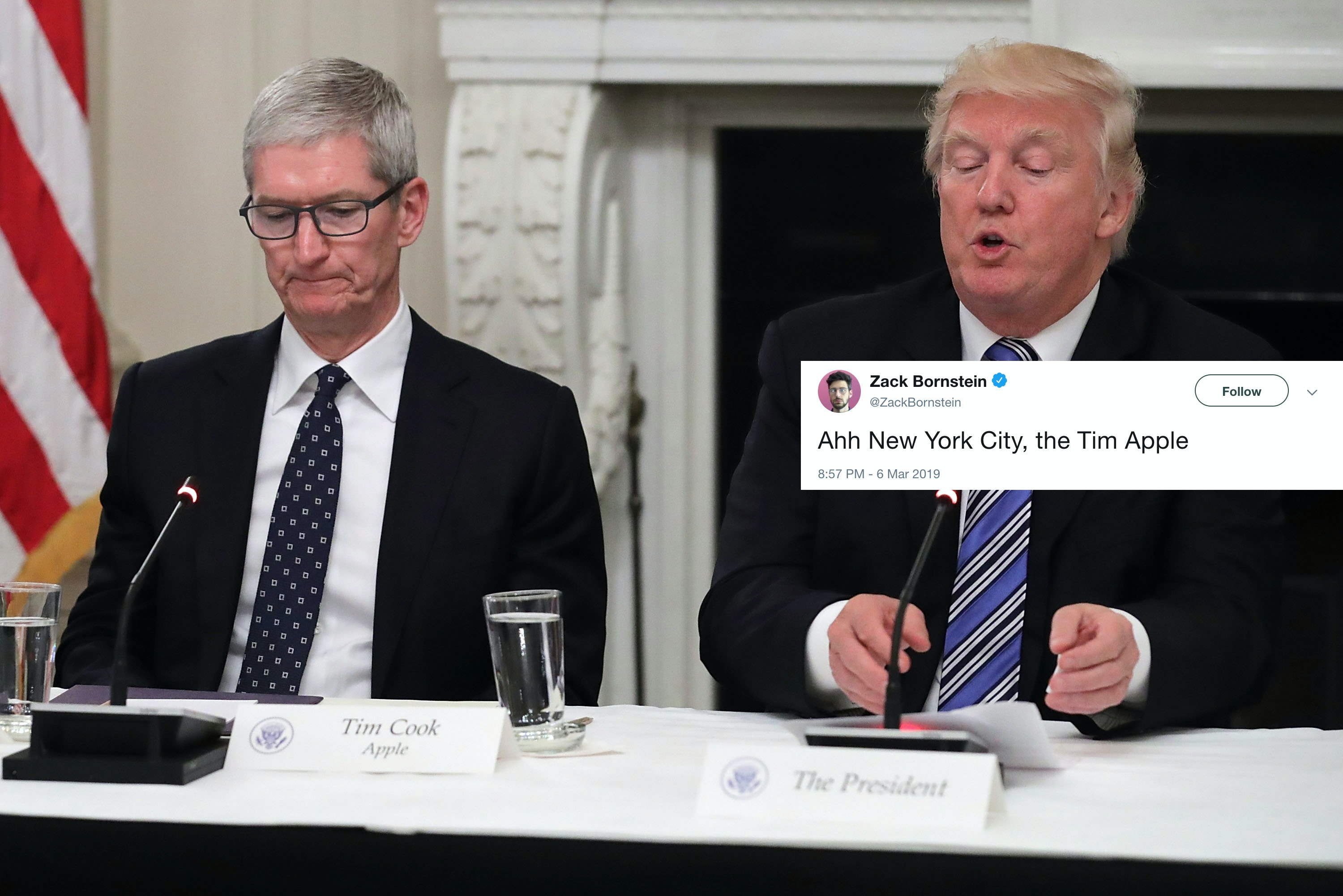 These tim apple memes about donald trump tim cook are having fun with the mix up