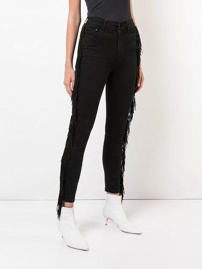 Fringed Sides Jeans