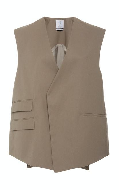 Trapeze Multi-Pocket Crepe Vest