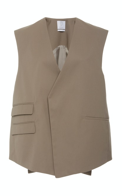 Trapeze Multi-Pocket Crepe Vest