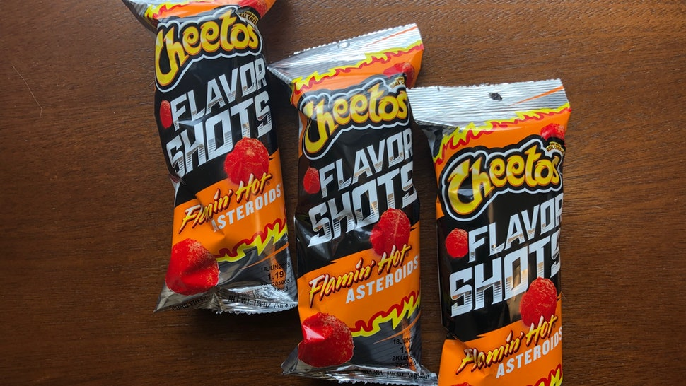 Cheetos Flamin Hot Asteroids Are Back Thanks To The New Frito Lay