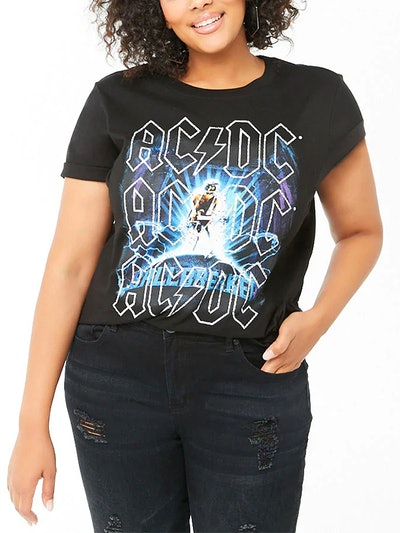 Plus Size ACDC Band Tee