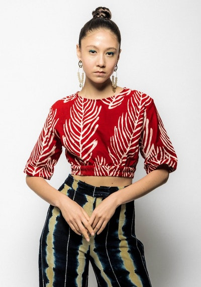 Cotton Ngaa Cropped Top