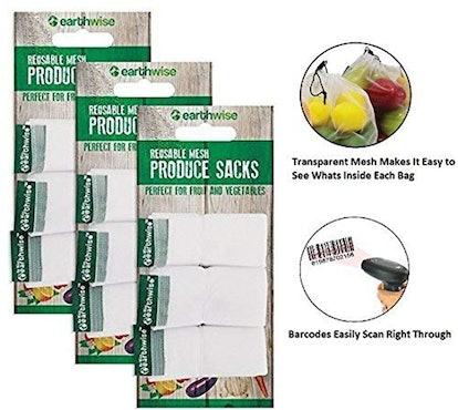 Earthwise Reusable Mesh Produce Bags