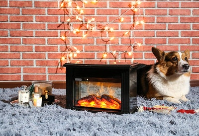 """Donyer Power 14"""" Mini Electric Fireplace"""