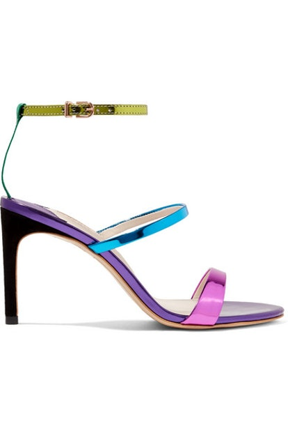 Sophia Webster Rosalind Metallic Leather Sandals