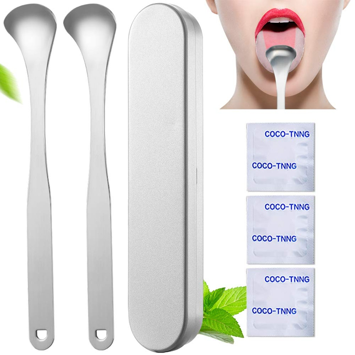 INCOK Stainless Steel Tongue Scraper Cleaner