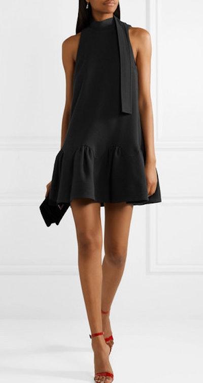 Wool-Blend Cady Mini Dress