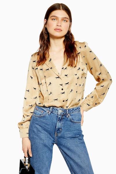 Topshop Horse Print Shirt