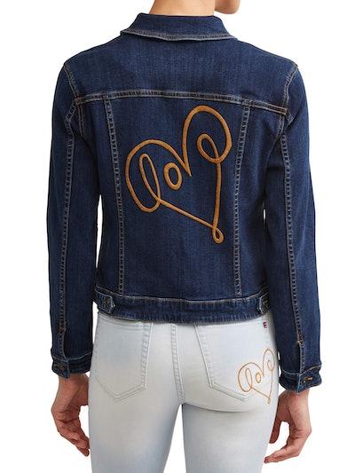 EV1 Love Scribble Denim Jacket