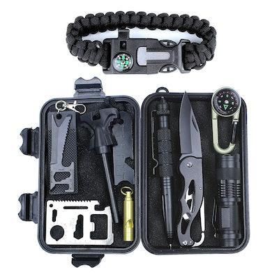 HSYTEK 11-In-1 Survival Gear Kit