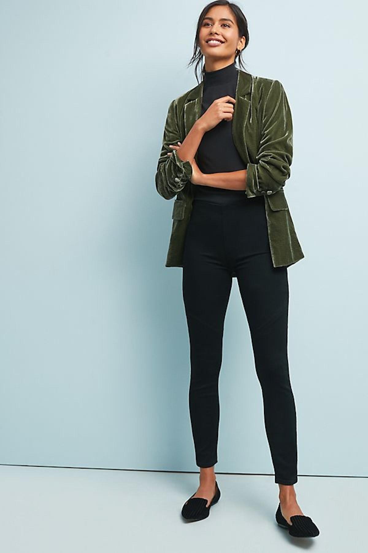 Paige Linley Mid-Rise Denim Leggings