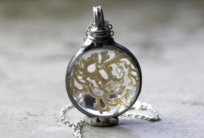 Vintage Irish Lace Pendant