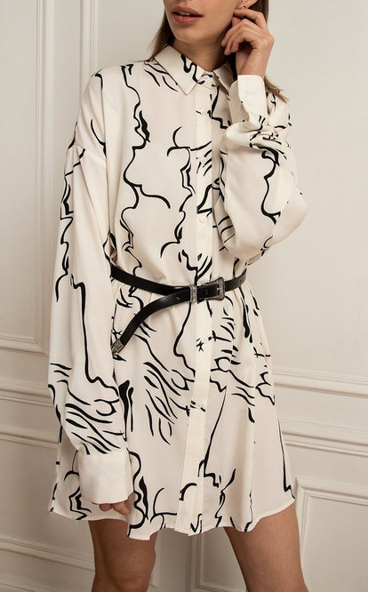 Graphic Print Shirt Dress