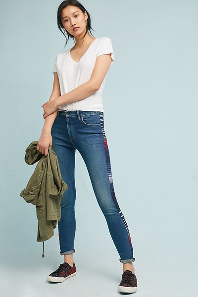 Levi's 721 High-Rise Embroidered Skinny Jeans