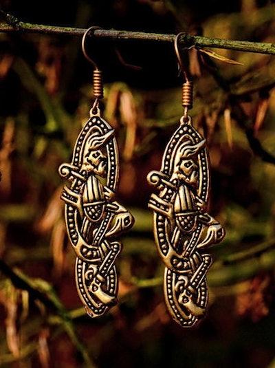 Medieval Earrings Irish Style