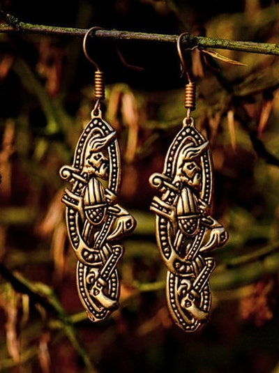 Medieval Earrings Irish Style