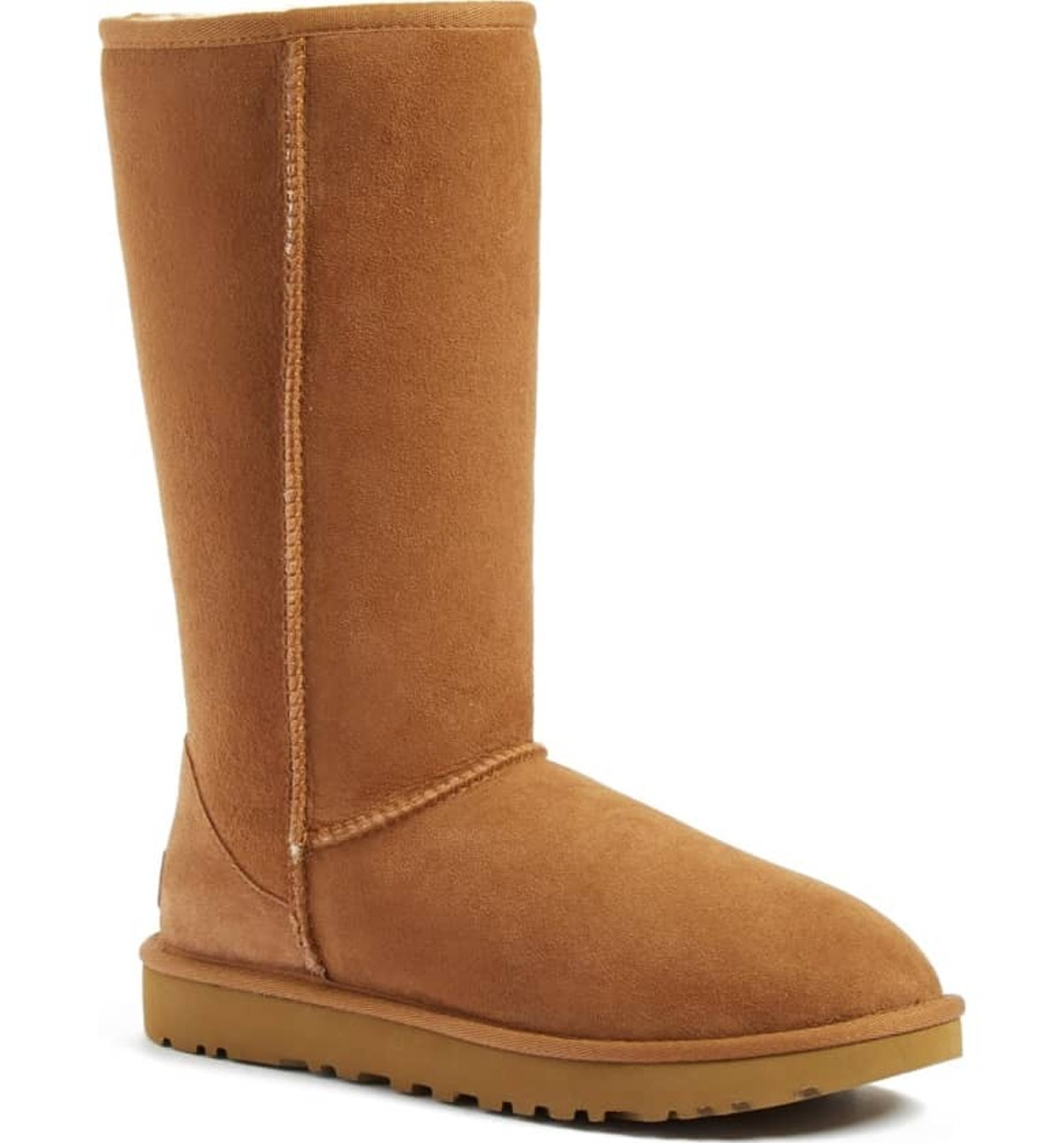 Classic II Genuine Shearling Lined Tall Boot In Chestnut