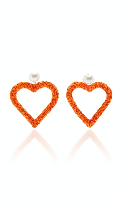 Micro Bead Heart Earrings